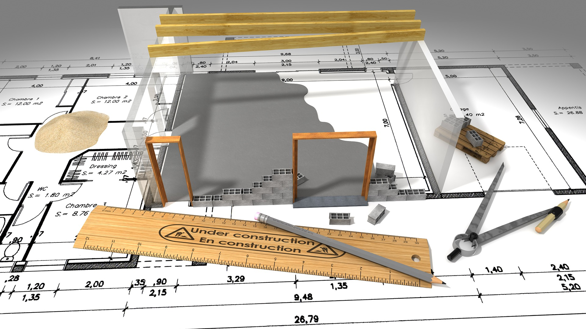 《建設中》着工15~54日目。基礎工事はやっぱり地味です!笑。
